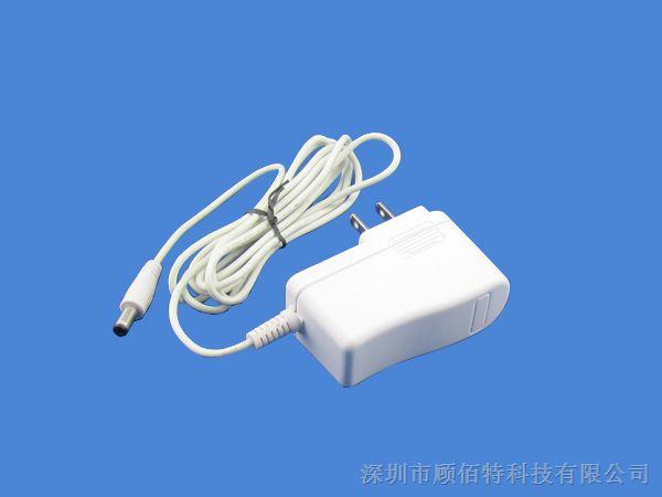12v1a美规插墙式电源适配器 白色 按脚
