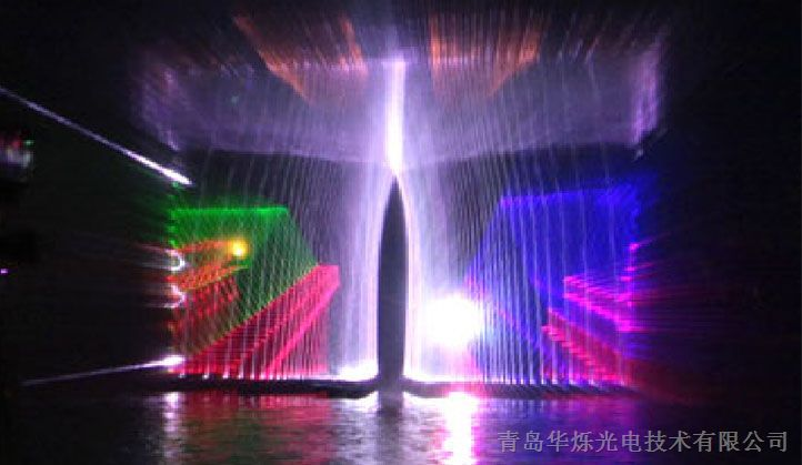 水幕投影龙凤视频素材