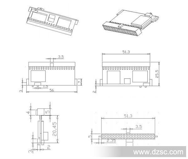 axdssd ide dom系列 axd-i40v-xxms工业电子盘结构示意图