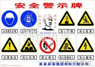 工地安全警示标示图片 工地安全警示标志图片 建筑工地安全警示标牌图片