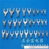UT1.5-4叉形裸端头, Y型铜端头接线端子