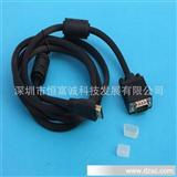 HDMI线转DVI线 高清连接线1.5米 公对公全铜黑色外被