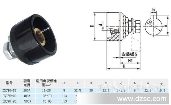 欧式快速接头dkj-50 焊机快速接头10-25