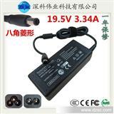 M1318 65W DELL/戴尔电源 19V 3.34A 笔记本电源适配器 八角接口