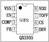 QX5305 LED大功率QX5305 升压恒流驱动IC QX5305