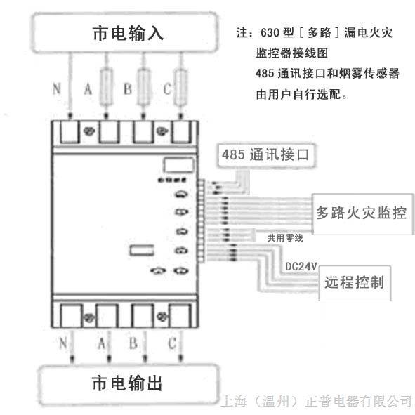 hdl-y 360a剩余电流式电气火灾监控探测器 (一体式)