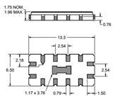 Triquint 70MHz滤波器854666 带通滤波器SMP