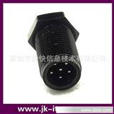 M12 LED连接器 塑胶 面板前装式 防水插头  插座