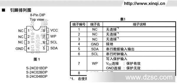 s24c04b cmos 2 线串行eeprom存储器 2kb【日本精工】
