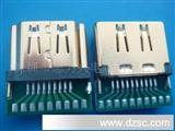 HDMI19P/FPCB铜壳镀镍 HDMI母头