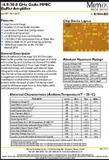 M/A-com  XB1004-BD-000V  16-32 GHz 毫米波隔离放大器   GaAs  MMIC