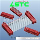 红色IDC压线头,配套板端,带卡勾,IDC线端与板端PIN位齐全