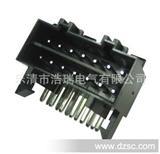 汽车连接器/护套/端子/插件14P针座-弯针国产16针连接器