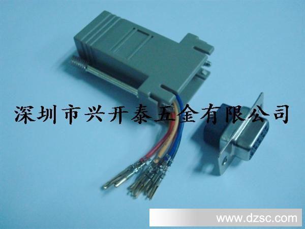 rs232/串口转rj45转接头串口转网线 db9转rj45