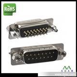 VGA端子电脑连接器厂家生产 DP15公180度直插端子镀全金环保