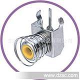 彩色RCA连接器 AV同心插,带弹簧单孔视频插座