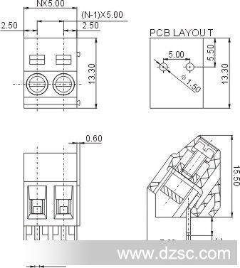 dg103-5.0,2pin,3pin插座,接线柱