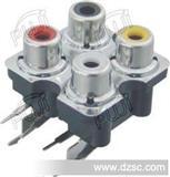 4孔av插座(RCA同芯插座)AV4-7MF密封/RCA母插座/RCA母座