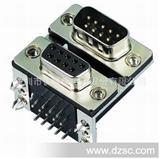 厂商直销 D-SUB双胞胎连接器 DR9母+DR9公 8.89 PCB板插板焊接