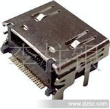 厂家低价直销HDMI19P母座 端子SMT外壳插板式  连接器