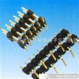 2.54mm 单排双排双塑排针 SMT焊接 黑色环保