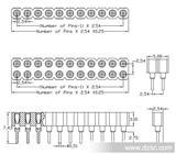 2.54圆孔排母/圆孔排针