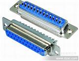 深圳厂商直销蓝色REACH环保D-SUB25PIN(DB25P)焊线式母头连接器