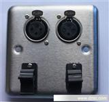 音频、视频插座YX9034,不锈钢面板