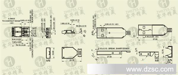 usb3.0am 焊线 hdmi 三件式 usb公头焊线式 mini5p母座焊线式