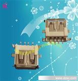 高品质USB母座 AF90度母座 USB AF90度破板式贴片母座连接器