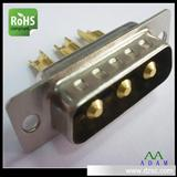 D-SUB连接器插座插头 焊线式大电流3W3连接器专业生产厂家生产
