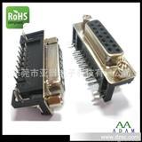 东莞VGA插座亚当制造 DR 15P双排母座90度弯头板对板连接器