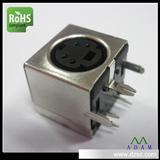 音视频插座S端子接线端子 S端子母座6P半包90度插板厂家生产