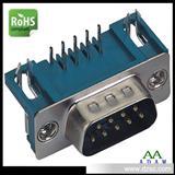 VGA接口 DR9P公头铆合90度插板式专业连接器厂商 直销