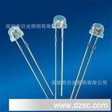 LED灯珠直插超高亮4.8MM/2300-2600MCD F5白光灯珠 6000-6500K