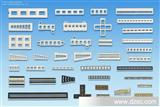 LED发光条外壳套件 带耳五格光柱 5格带耳光条 KDL-1246-5