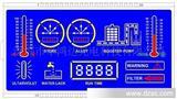 深圳厂家专业设计、定制超酷蓝色背光显示屏,家用电器LCD