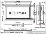 12864点阵屏 、000095A、LCD点阵屏、LCD黑白屏
