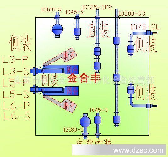 液位传感器1075-S、液位感应器、液位控制器、液位执行器、水位开关、浮球开关、水塔水位控制器是一种结构简单、使用方便、安全可靠的液位控制器件,一般接到继电器或者交流接触器的。当水位、油位上升/下降到一定距离时,感应开关就闭合或者断开,随着继电器/交流接触器也跟着闭合或者断开,从而控制水泵、水位、油位。 它可以通过的电压是3--350V(交流/直流),所以接220V的电压是可以的!但是它的功率很小的!(常规的额定电流是0.
