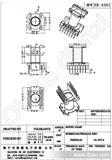 【特别推荐】厂家质量保障ER-4301(7+7)立式胶木骨架(图)