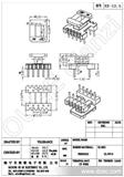 【诚信商家】厂家高质量EE-12.5立式5+5电木骨架(图)