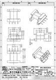 EPC17卧式4PIN高频变压器骨架(图)