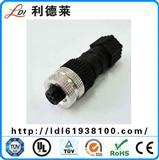 替代宾德传感器M12 3-5芯厂家 小型防水连接器对接式接插件