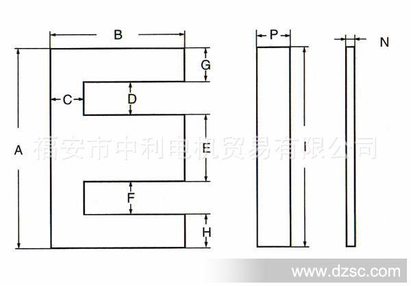 ei矽钢片尺寸_矽钢片铁芯 EI-41_电子五金配件_维库电子市场网