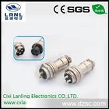 M16圆形连接器/GX16音视频连接器/锌合金镀镍/航空插座/插头