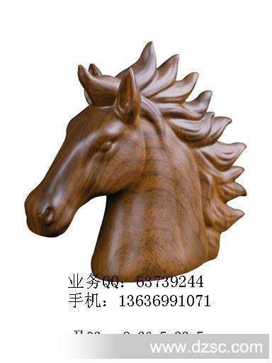 仿木雕动物装饰品