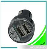 东莞工厂出口CE认证Iphone5S双USB车充充电器