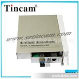 【厂家直销】深圳天博通信双电源光纤转换器,1U机架式光纤收发器
