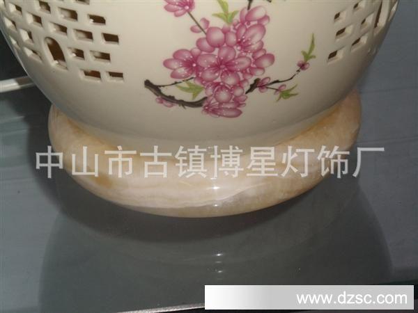 【博新】陶瓷台灯镂空设计一灯两用古风现代结合专业