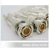 BNC连接器/美式半镀金/BNC头/摄像机接头/监控接头/Q9头镀金铜针